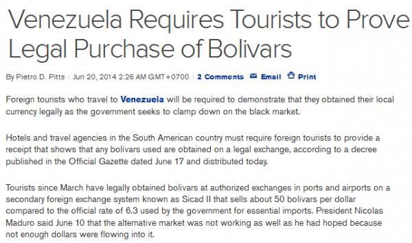 Bloomberg Venezuela