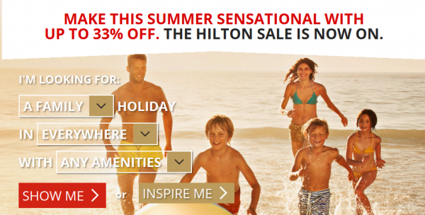 Hilton Europe Middle East Africa Summer Sale 2014