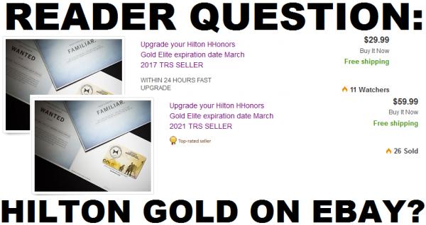 Hilton HHonors Gold eBay