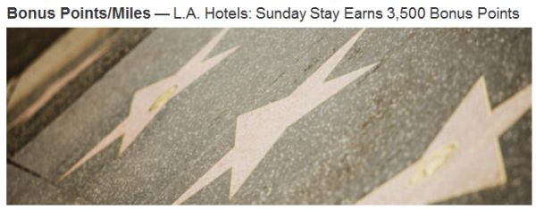 Marriott Rewards LA 3,500 Bonus Points Offer