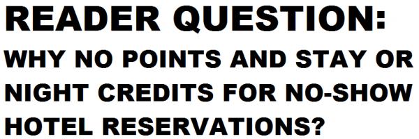 Reader Question No-show