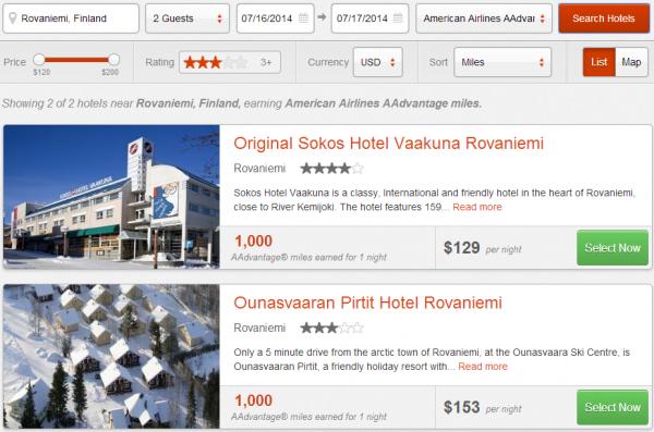 RocketMiles Nordic Booking Bonus Rovaniemi
