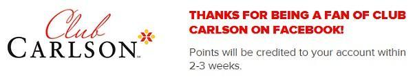 club-carlson-free-1000-points-confirmation