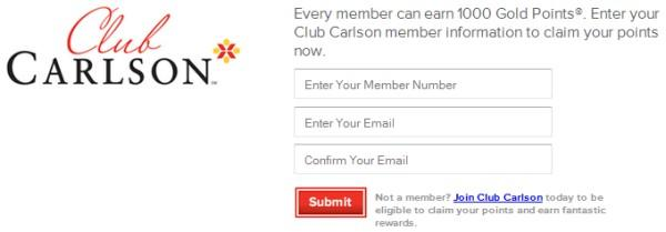 club-carlson-free-1000-points-form