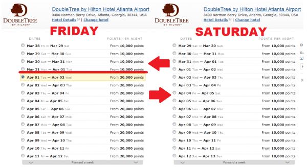Hilton HHonors 2014 Devaluation April 1 DT ATL Airport Saturday