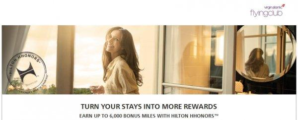Hilton HHonors Virgin Atlantic Bonus Miles Spring 2014