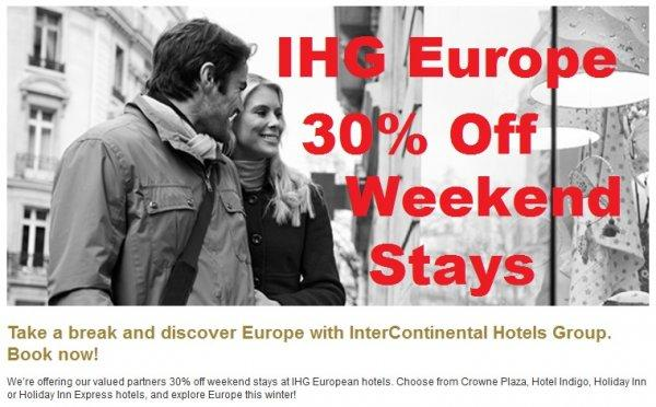IHG Europe Weekend Breaks Spring 2014