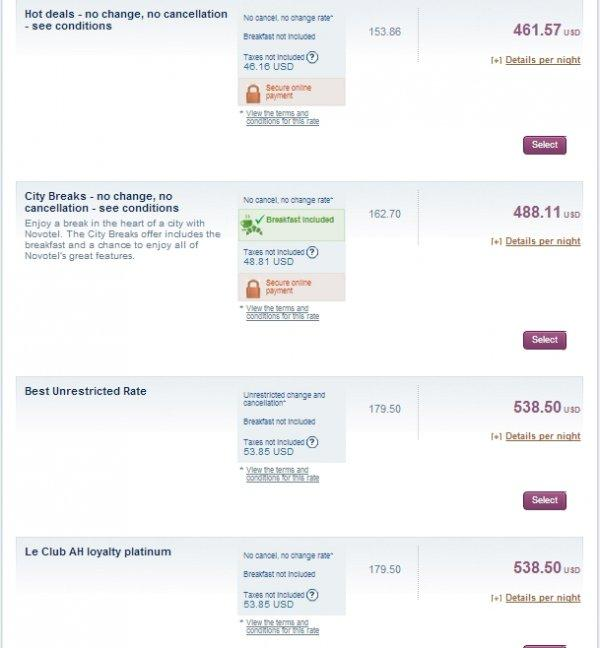 Le Club Accorhotels 3=2 Sale March 2014 Novotel Nathan Road Hong Kong 2