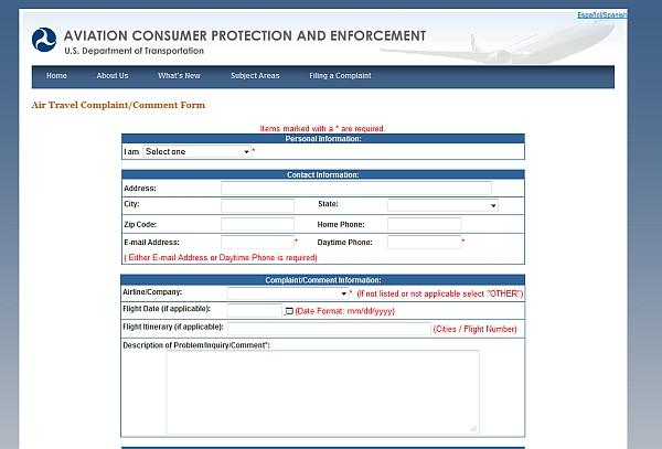 Problem With An Airline File A Complaint With The Us Department