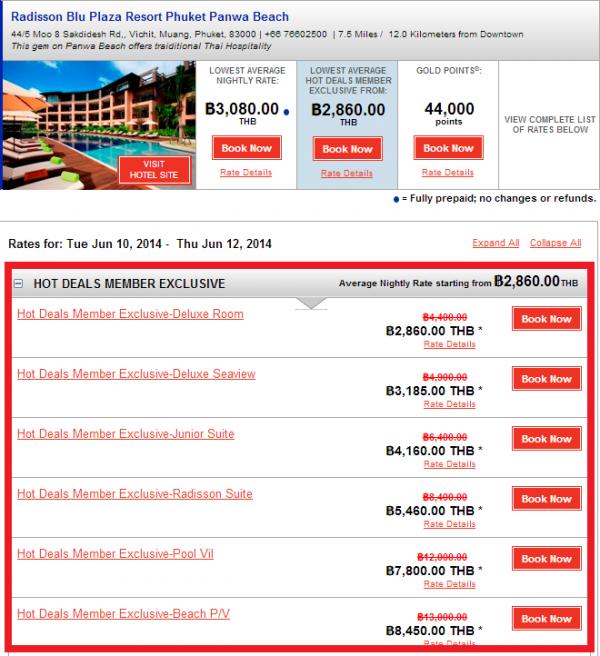 Club Carlson APAC 35 Percent Off Sale May 2014 Radisson Phuket 1
