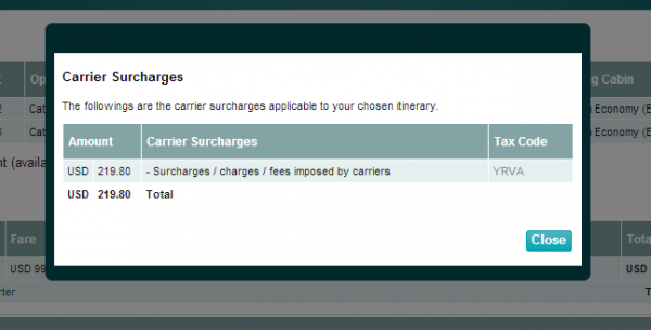 Compensation Clinic Cathay Pacific Website MLE-ORD Flight Selection Price YQ