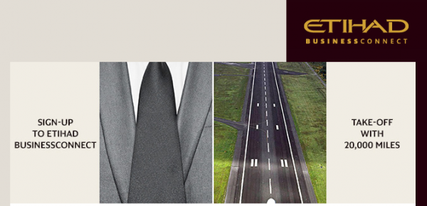 Etihad BusinessConnect Sign Up Offer Spring 2014