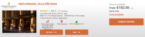 IHG Europe Summer 2014 50 Percent Off July 18 September 28 2014 IC Rome