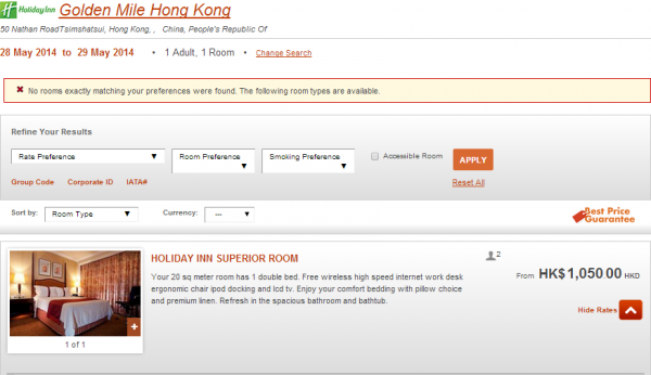 IHG Rewards Club Hong Kong Sale Holiday Inn Golden Mile