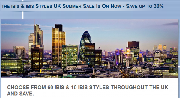 Le Club Accorhotels ibis &  ibis Styles 2014 Summer Sales