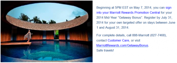 Marriott Rewards GetawayBonus