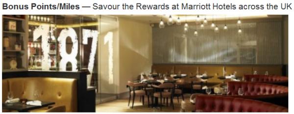 Marriott Rewards UK Promo