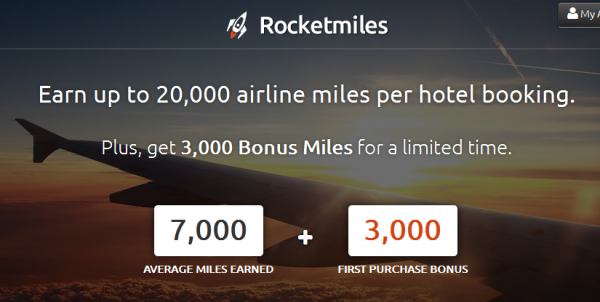 Rocketmiles Generic 3,000 Bonus Miles For First Order By June 5 2014