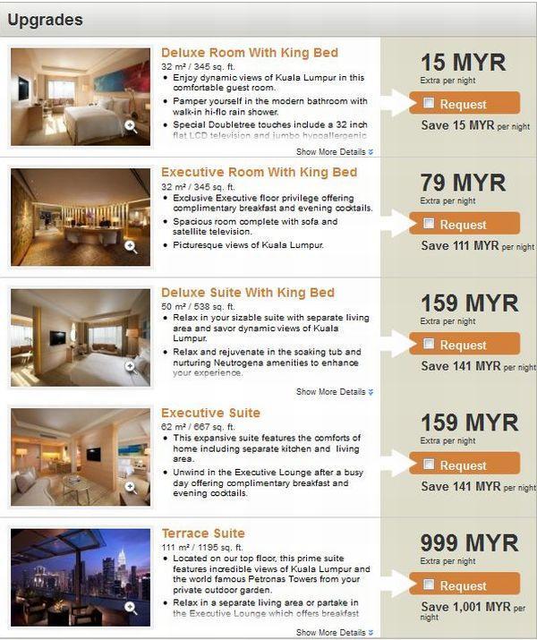 DoubleTree Kuala Lumpur Nor1 Options