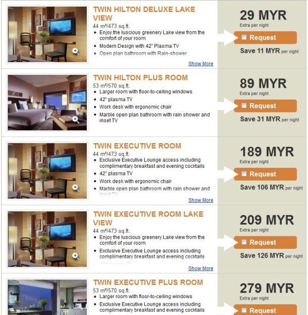 Hilton Kuala Lumpur Confirmation Upgrade Options Nor1