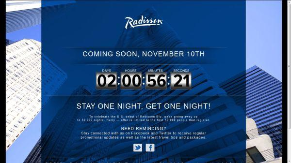 Radisson Stay One Night Get One Night