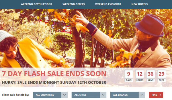 Hilton Europe 7-Day Weekends Flash Sale Fall 2014