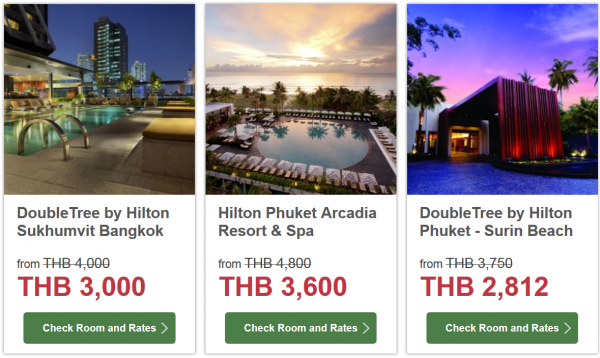 Hilton HHonors Thailand 25 Percent Off Sale 2