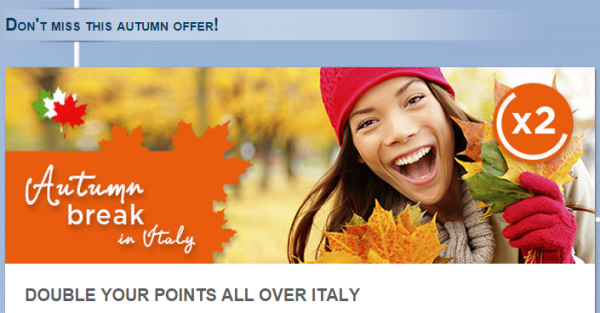 Le Club Accorhotels Italy Double Points Offer Fall 2014