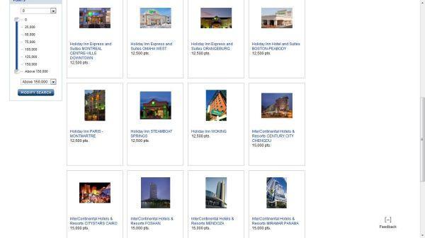 InterContinental Hotels Group Last Minute Reward Nights Promotion Hotel Display
