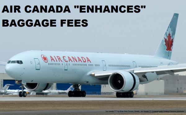Air Canada Bag Fees Effective September 2014 Plane