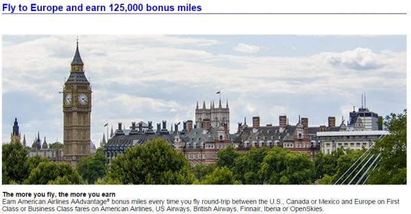 American Airlines Transatlantic Business First Class Bonus Fall 2014