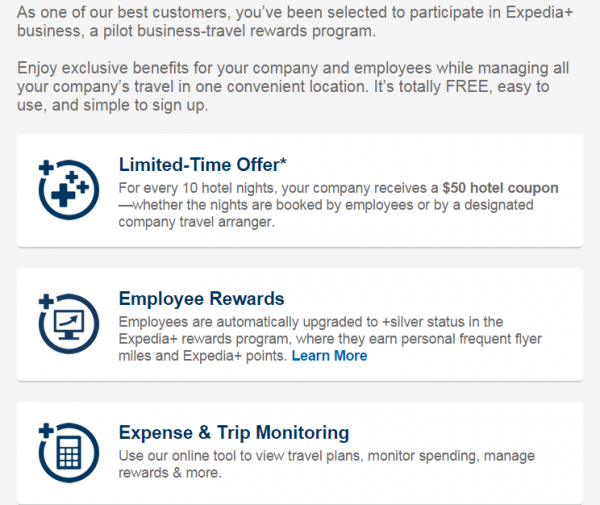 Expedia+ Rewards Business Benefits