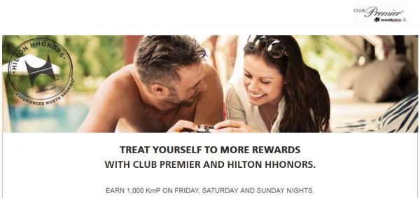 Hilton HHonors AeroMexico Club Premier Weekend Offer Fall 2014
