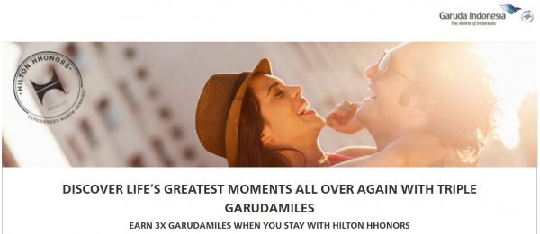 Hilton HHonors Garuda Indonesia Garuda Miles