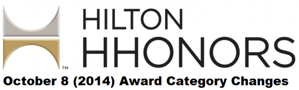 Hilton HHonors October 8 2014 Award Category Changes