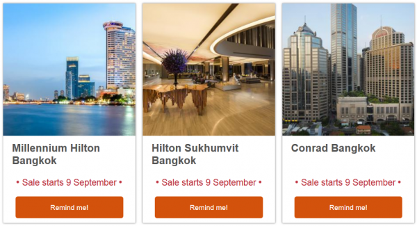 Hilton HHonors Thailand September Flash Sale Email 1