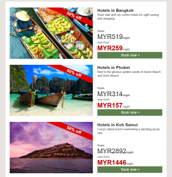 Hilton HHonors Thailand September Flash Sale Email