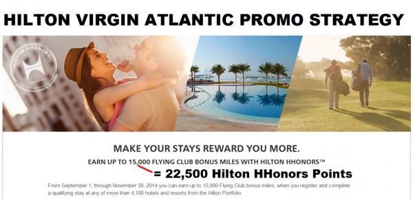 Hilton HHonors Virgin Atlantic Promo Strategy
