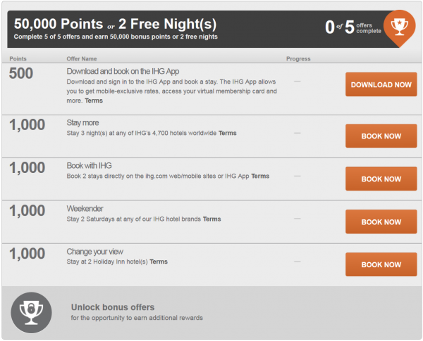 IHG Rewards Club Into The Nights Base Offer New Accounts