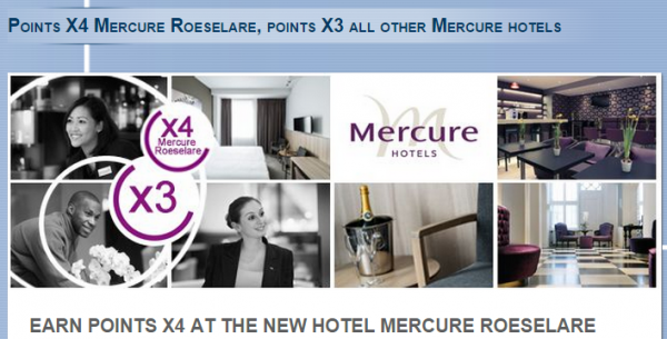 Le Club Accorhotels Benelux Mercure Triple Points Offer Fall 2014