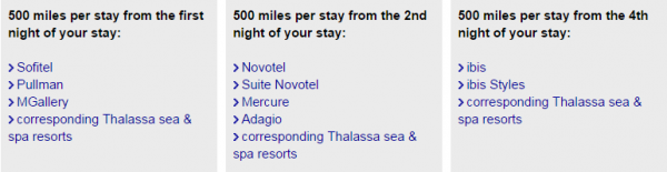 Le Club Accorhotels Lufthansa Miles&More 3,000 Bonus Miles Offer Fall 2014 Brands