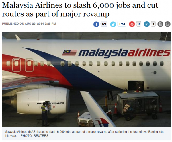 Malaysia Airlines The Straits Times