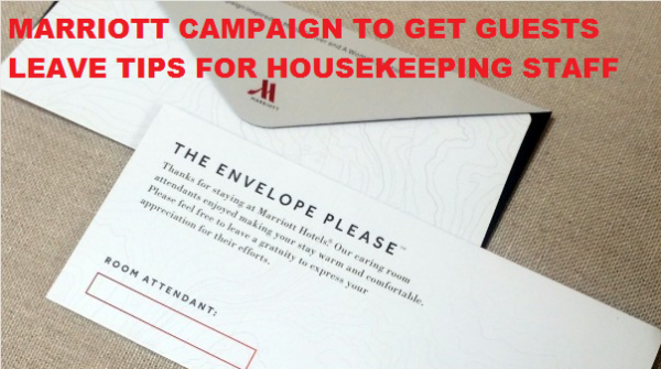Marriott Campaign Tip Housekeeping Maids
