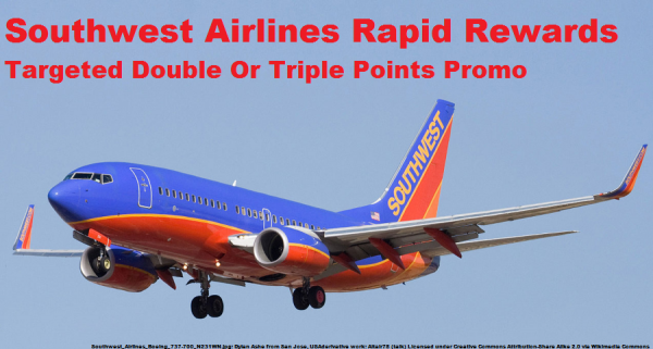 Southwest Airlines Rapid Rewards Double & Triple Points Offer Fall 2014 Photo