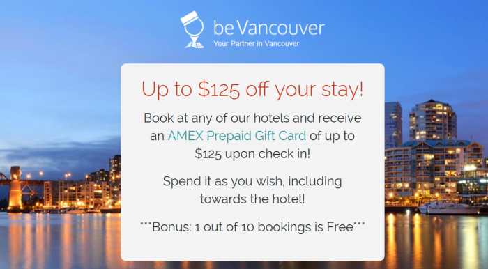 Be Vancouver Amex Gift Card Promotion