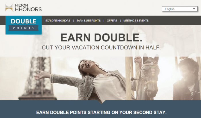 Hilton HHonors Double Up Double Points Promotion Q4 Q1 2014 2015
