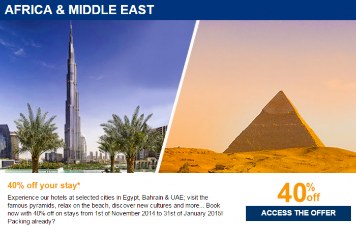 Le Club Accorhotels Private Sale October 2014 Africa & Middle East