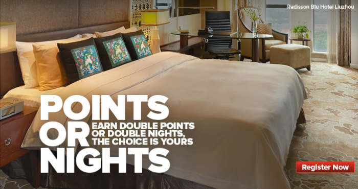 CLub Carlson Double Points Or Elite Qualifying Nights November 4 December 30 2014