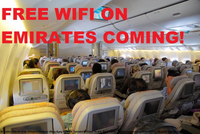 Emirates Free WiFi November 2014