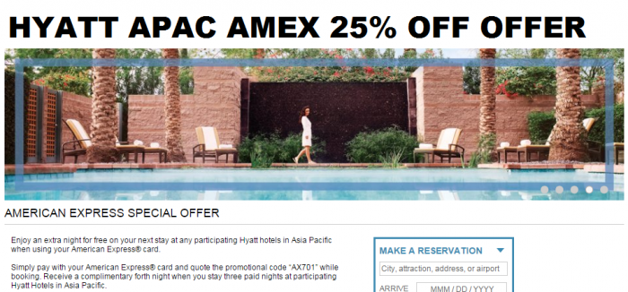 Hyatt Asia Pacific Amex 4 4 3 Offer